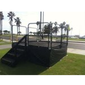 Stages and Platforms - All sizes and heights...handicap ramp / rails are also available. Please call for pricing.