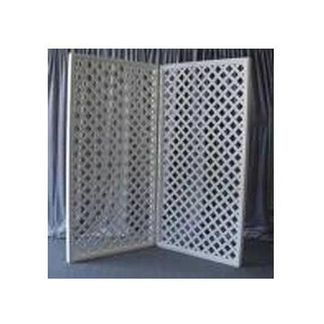 White Lattice 4x8 Panels Natural Lattice 4x8 Panels Available with backing for an additional fee.