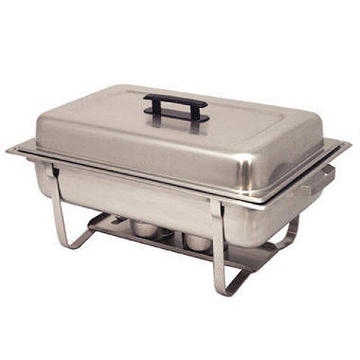 8 quart Sterno and Food Pan are included. Extra sterno or pans are available for an additional fee.