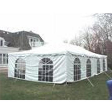 Many sizes available, with or without sidewall, lining or pole drapes. Prices and site inspection upon request.