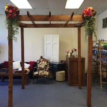 Mission style chuppah 5'x7'