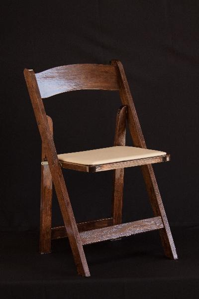 Folding Chair, Dark Wood