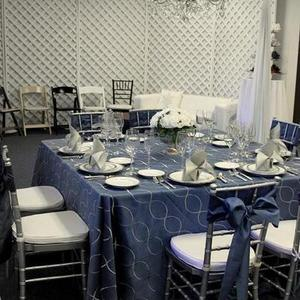 Slate Blue Nova Infinity Table Linen