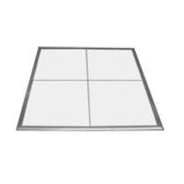 A white dance floor, available in 3x4 sections. Can be alternated with our black floor for a checkered look.