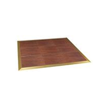 A rosewood laminate dancefloor, available in 4x4 sections.