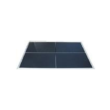 A black dance floor, coming in 3x4 sections. Pieces can be alternated with our white dance floor for a checkered look.
