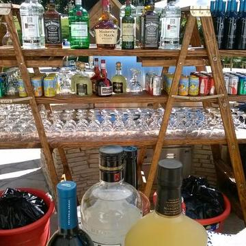 Can be used as a back bar or a decorative piece.