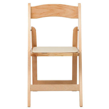 Folding Chair, Natural Wood