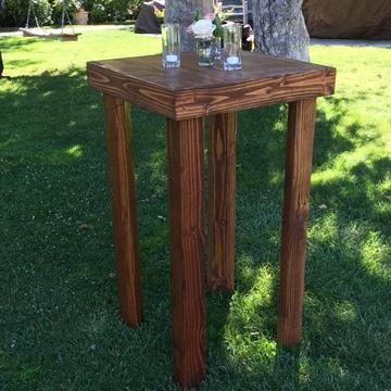 "A beautiful rustic square table. Following sizes available. 24""x24""x18"" 24""x24""x29"" 24""x24""x42"" (shown)"