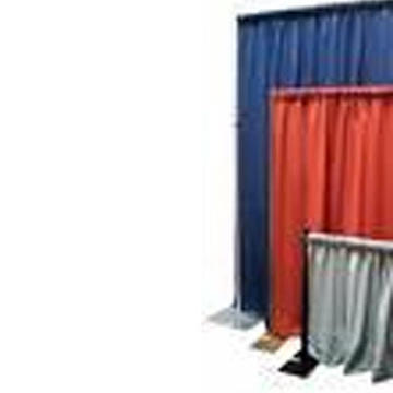 Pipe and drape sections used to create a booth- call for color availability, and pricing.