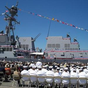 USS Stockdale Commissions Ceremony 1